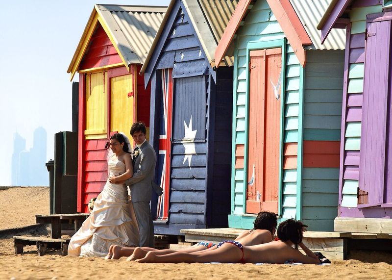 The Street Photographer - 2016 EyeEm Awards Just Married Melbourne Tanning Wedding Dress Beach Huts Wedding Wedding Day Australia Just Married! Color Photography Beach Cheating Lust