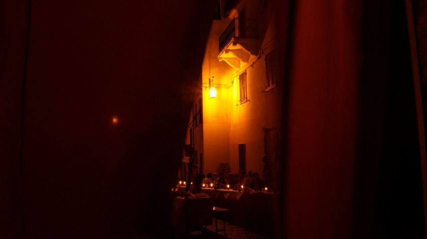 Castle Dinner Gate Historical Building Cena Close-up Curtains Historical Illuminated Night Storica Table Tenda