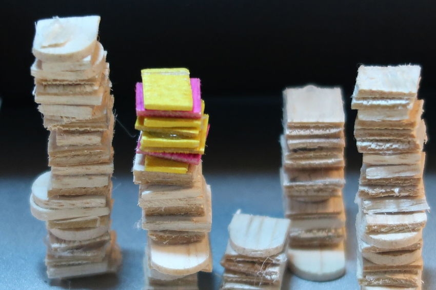 Stacked mini plywood, like library book Black Background Close-up Day Dessert Food Food And Drink Freshness Frozen Food Gelatin Dessert Ice Cream Indoors  Indulgence No People Ready-to-eat Stack Sweet Food Temptation Unhealthy Eating Variation