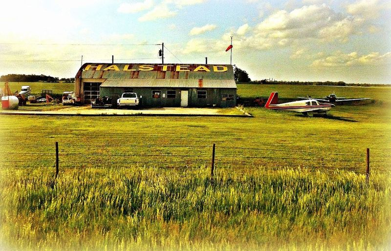 Airplane Old Buildings Kansas BeFunky