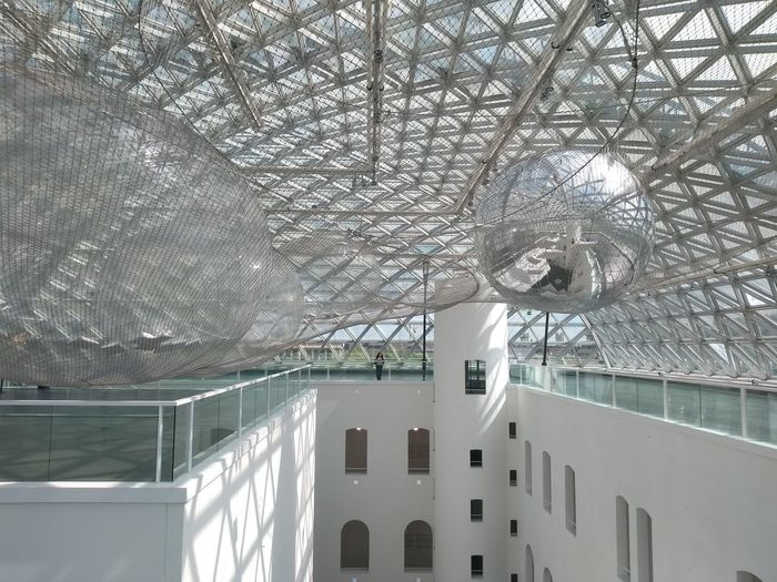 Low angle view of ceiling in museum