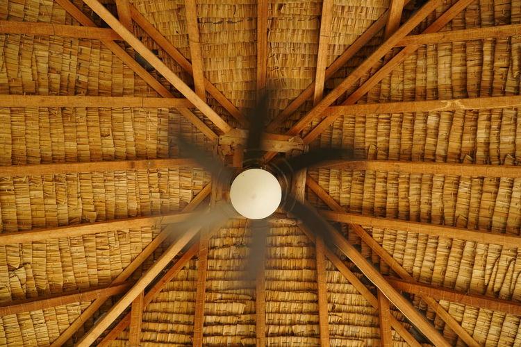 Directly below shot of ceiling fan