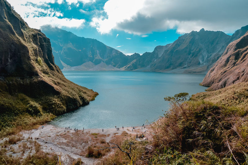 Beauty In Nature Mountain Cloud - Sky Tranquility Sky Tranquil Scene Water Non-urban Scene Environment Lake Landscape Outdoors Remote Plant No People Mountain Range Scenics - Nature Nature Day Beautiful Peaceful Hiking Mountain Hike Philippines Mount Pinatubo