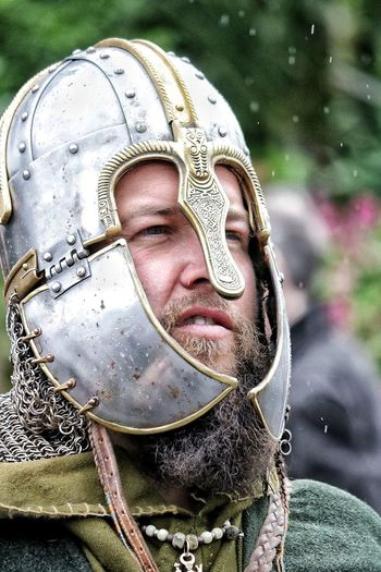 Reinactment Metal Protection Beard Beardman Beardlife Beardlover Beardstyle Helmet Helmets Required Helmet Classic Chain Mail Portrait Headwear Close-up