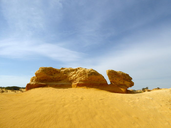 Arid Climate Beauty In Nature Day Desert Landscape Nature Near Perth No People Outdoors Sand Sand Dune Sandstone Rock Formation Scenics Sky The Great Outdoors - 2017 EyeEm Awards Tranquil Scene Tranquility Yellow Sandstone