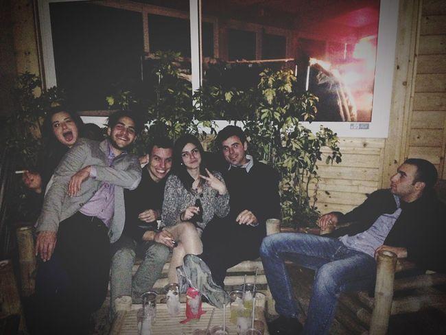 In da club with my friends ?