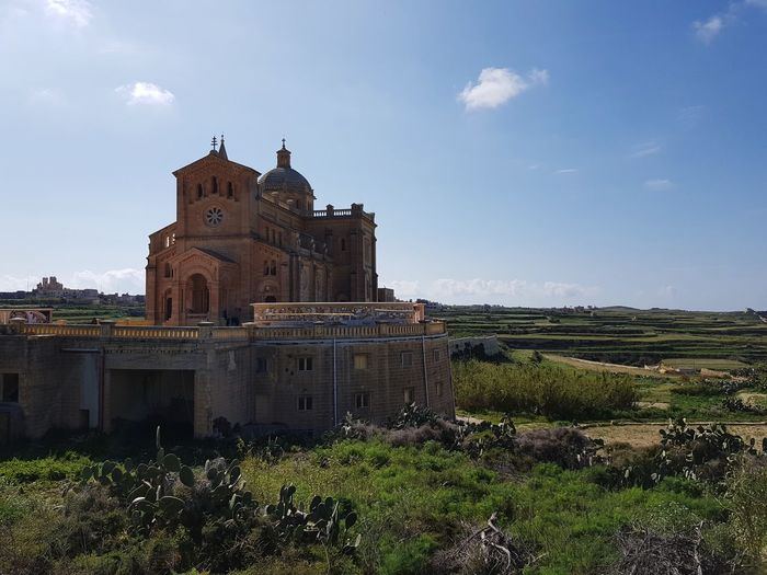 Ta'Pinu Gozo Island Gozo Island Malta Ta' Pinu Water Religion Place Of Worship Sky Architecture Building Exterior Historic Cathedral Church Historic Building