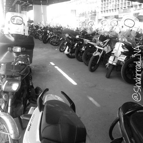 Art هنر Shahrrad_NA Blakandwhite Motor Cycle Motor