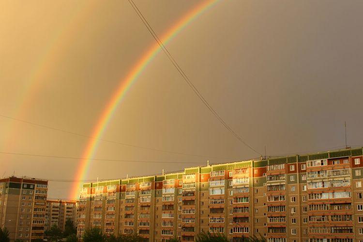 Architecture Illuminated City Sky Summer Beauty In Nature Rainbow