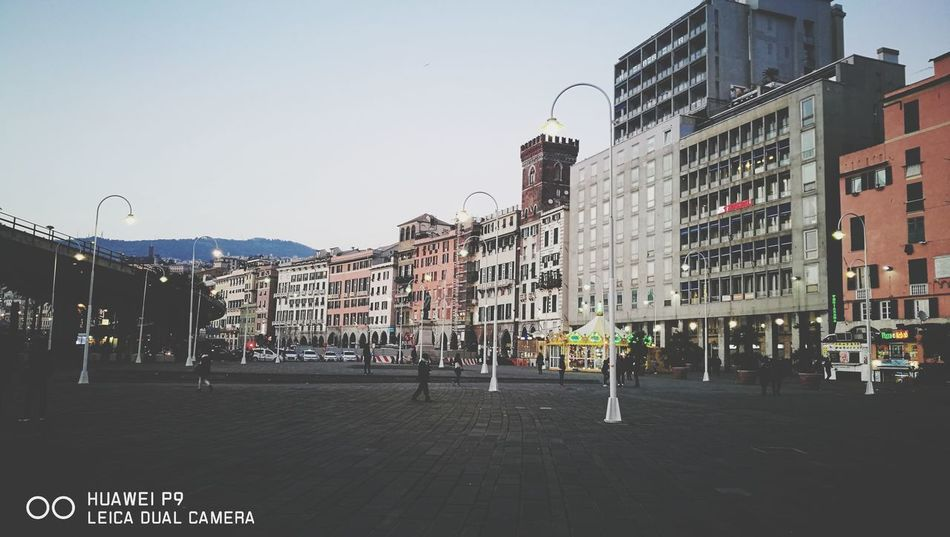 piazza Caricamento..... City Citylife Europe Mediterranean  Genova Igersgenova City Architecture Building Exterior Outdoors Sky Illuminated Day