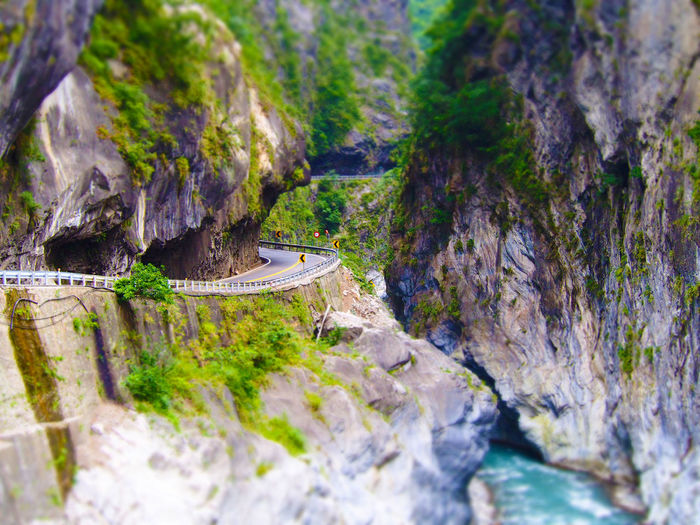 Idyllic Mountain Nature No People Road Road And Rock Scenics Selective Focus Taroko Taroko National Park Tiltshift Travel Destinations Feel The Journey