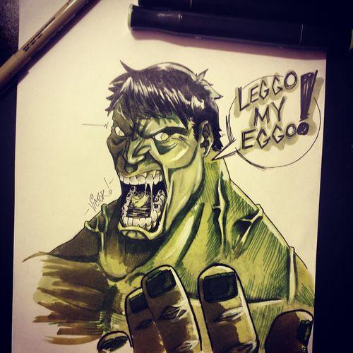 IncredibleHulk Illustrations  ArtWork Marvelcomics