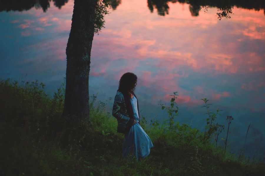 What I Value River Woman Nature Sunset Colors Outdoors Norway The Great Outdoors With Adobe Cinema In Your Life The Great Outdoors - 2016 EyeEm Awards The Secret Spaces