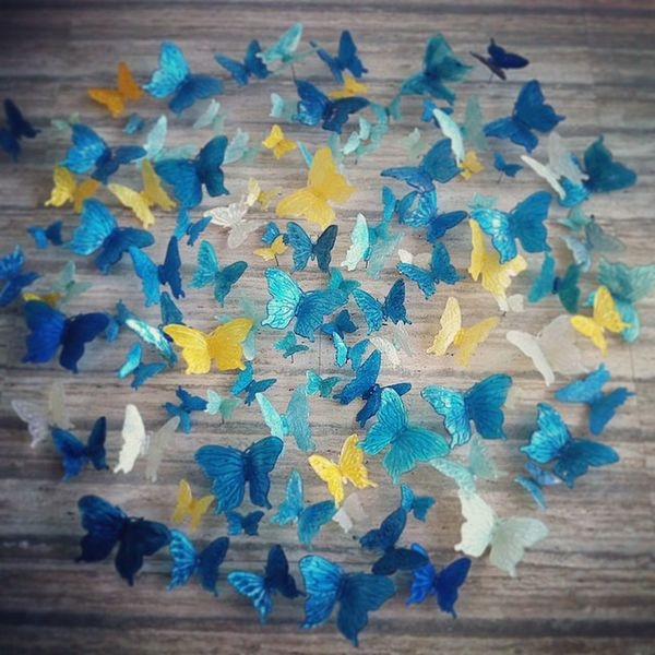 Butterflies Wallart Sculptures Interior Hotel Design Blue Yellow Insects  Butterflies Marble OrchardGateway 313somerset Hotel Singapore Arts And Crafts Photography Artsy Photography Travelgram Colours Travel Destinations