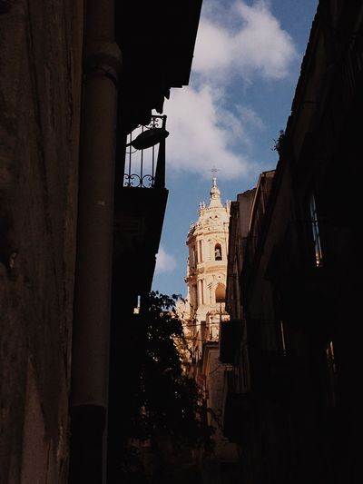 Sicily EyeEm Best Shots EyeEmNewHere EyeEm Nature Lover Built Structure Architecture Building Exterior Building Sky Place Of Worship Religion Belief Spirituality Low Angle View No People History Cloud - Sky Nature The Past