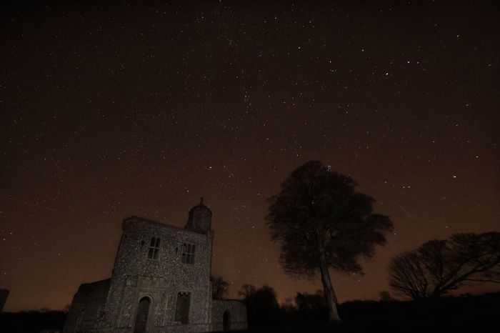 Baconsthorpe Castle is a beautiful, if a little spooky, place to be on a clear night. Sky Star - Space Astronomy Night Space And Astronomy Star Field Tree Constellation Low Angle View Beauty In Nature Scenics Galaxy No People Outdoors Nature Check This Out Tranquility Taking Photos Landscape Astrophotography Astro Astrophoto Astrophotographie Astrophotos  Astrophotograph