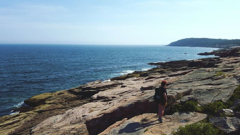 The ocean calls to our souls. Adventure Buddies Adventure Maine Acadianationalpark Ocean Nature Bestfriend The KIOMI Collection People And Places