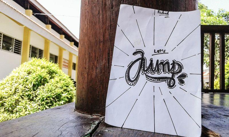 Let's Jump Typography Typewriter Typographyinspired Type Typo Typographyindonesia Typographyinspiration