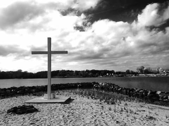 Beautiful View Black & White Serenity St. Mary's City MD USA