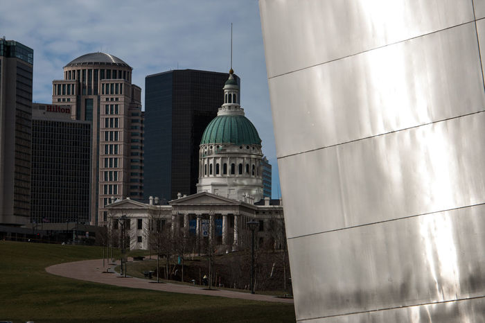 City Downtown Gateway Arch Grass Historical Building Missouri Reflection St. Louis Arch St. Louis Old Court Hous St. Louis, MO Turtles Architecture Day Dome Fences Focus On Background Glass Historic Missouriphotography No People Old Court House Pillars Steel Windows Wrought Iron