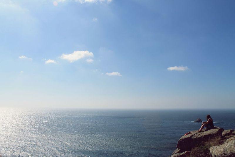 The end of the world, Finisterra, Spain Sea Sky Horizon Over Water Tranquility Seaside EyeEm Best Shots EyeEm Selects EyeEm Best Shots - Nature EyeEmNewHere EyeEm Nature Lover Eyeemnaturecollection Eyeemnaturephotography EyeEmSeaLife🐠 Seaside_collection SPAIN Finisterra Wanderlust Seascape Summer Atlantic Ocean Nature_collection