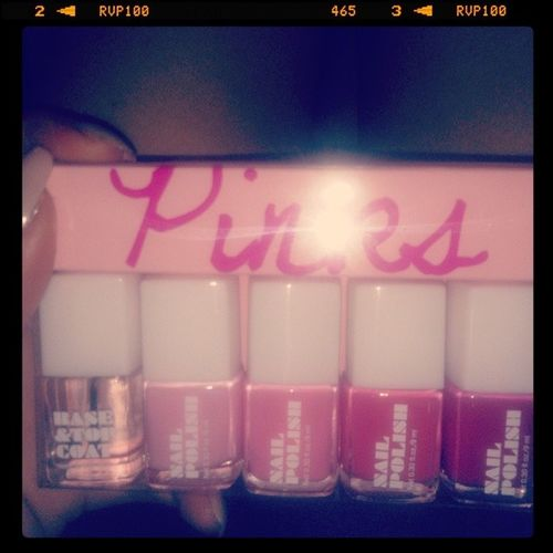 """Luv my creamy-nude nails but.... All these """"Shades of Pink"""" r lookin' like they're Made 4 me.... Cottoncandy Pink Intoxicating  DeliciousbutToxic NoTime2left NowItsMyTurn SpendTheTime TheCreativeWork TheSleeplessNights In My Own New ArtWork JustWhere2busy2see Where IT Is"""