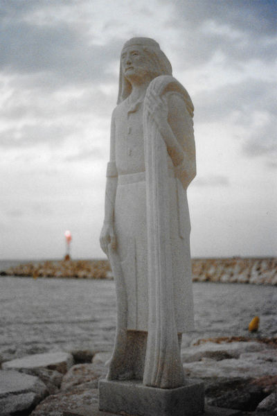 Film Yashica Beach Close-up Cloud - Sky Day Fujifilm Human Representation Male Likeness Nature No People Outdoors Portrait Sculpture Sea Siren Sky Statue Water