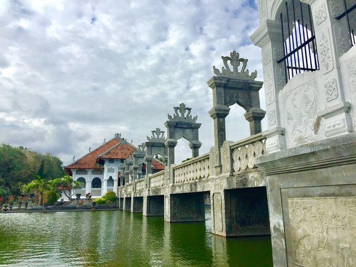 Ujung Water Village, Bali Bali Architecture Built Structure Building Exterior Sky Water Cloud - Sky Travel Destinations