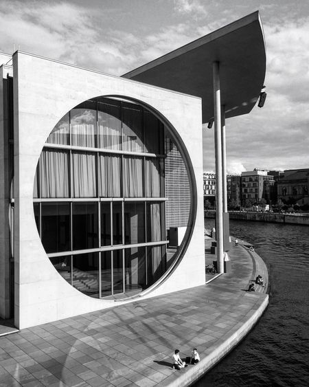 Architecture Building Exterior Built Structure Sky Outdoors Day Travel Destinations Modern Architecture City Blackandwhite Photography Bnw Monochrome Black And White Black & White EyeEm Awards 2017 Architecture
