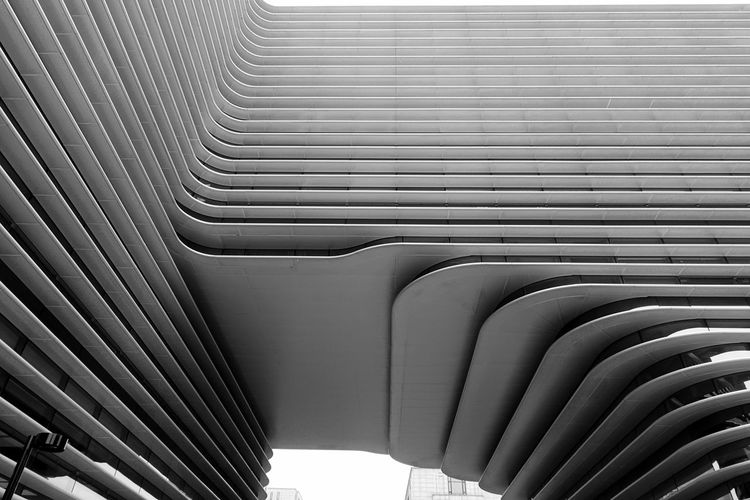 Taking Photos Monochrome Black And White Pattern No People In A Row Built Structure Architecture Metal Transportation Design