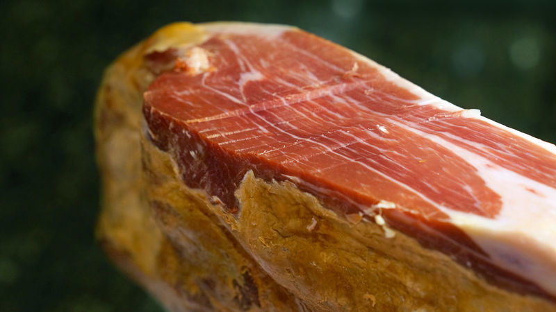 Jamon Serrano leg ready to be carved Ham Jamon Carving Close-up Day Food Food And Drink Freshness Jamon Serrano Meat Meats No People Outdoors Ready-to-eat