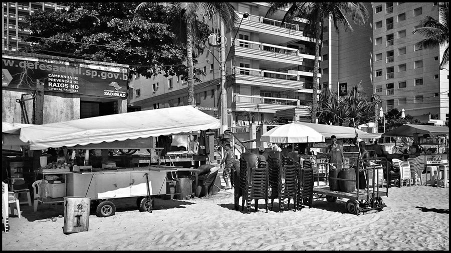 Working on the beach (1/4). A tent that sells food and drinks. Guarujá, São Paulo, Brazil. Taking Photos Travelphotography Monochrome Beach Photography Eye4photography  Photography Beach Life Beach Beachphotography Summer Sea Sun Black And White Collection  Summertime B&w Photography B&W Collection B&w Travel Working Work Beach Tent Beach Food From My Point Of View Black And White Blackandwhite Photography