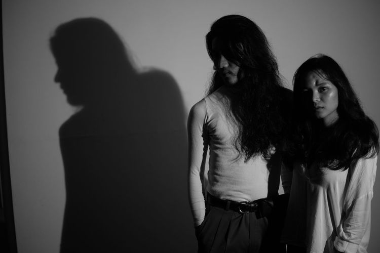 Blackandwhite Black And White Long Hair Portrait Friendship Shadow Women Togetherness Hand In Hair Focus On Shadow Long Shadow - Shadow