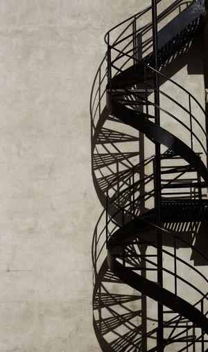 DNA STAIRCASE Architecture Blackandwhite Photography Metal Shadow Spiral Spiral Staircase Staircase Urban