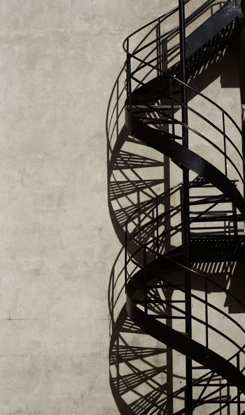 DNA STAIRCASE Architecture Blackandwhite Photography Metal Shadow Spiral Spiral Staircase Staircase Urban