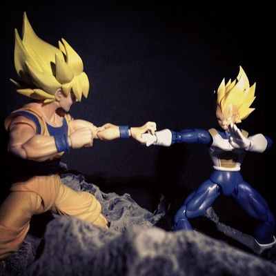 The battle of the two greatest saiyans.