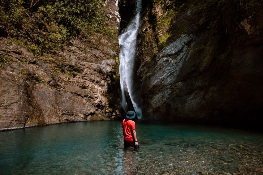 Love the feeling of exploring new places Water One Person Real People Lifestyles Leisure Activity Nature Day Motion Waterfall Splashing Full Length Sport Tree Waterfront Adventure Plant Beauty In Nature Outdoors Flowing Water Flowing EyeEmNewHere