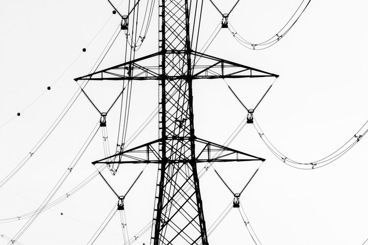 The Still Life Photographer - 2018 EyeEm Awards Architecture Built Structure Cable Clear Sky Complexity Connection Day Directly Below Electrical Equipment Electricity  Electricity Pylon Fuel And Power Generation Low Angle View Metal Nature No People Power Line  Power Supply Sky Tall - High Technology