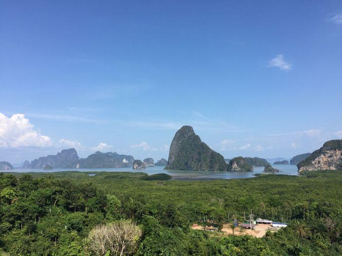 Sky Outdoors Beauty In Nature Nature Mountain Tranquil Scene Thailand Sametnangchi Southofthailand Phangnga