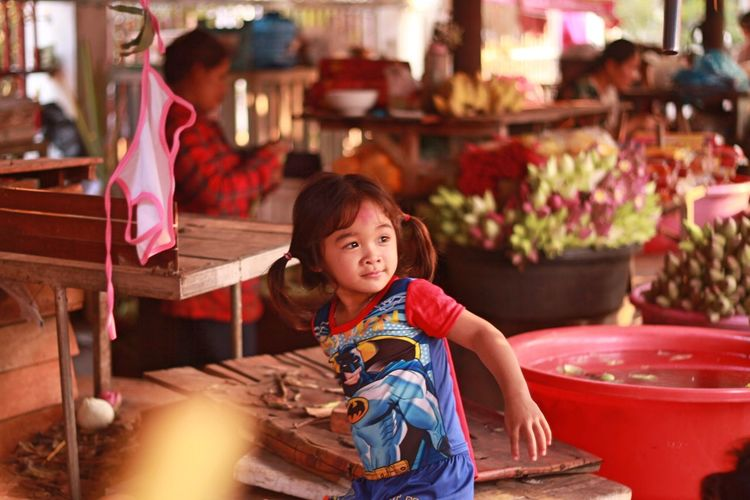 Childhood Cute Day Girls Happiness Indoors  Lifestyles Looking At Camera One Person People Portrait Real People Sitting Smiling