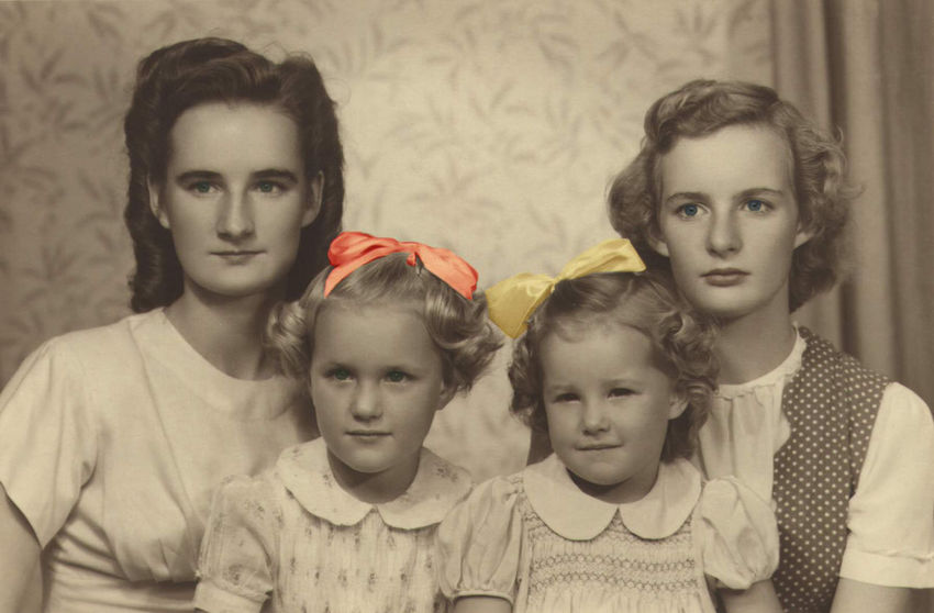 Something from the past photo restoration with a bit of fun Childhood Portrait Togetherness Domestic Life Taking Photos Enjoying Life Relaxing