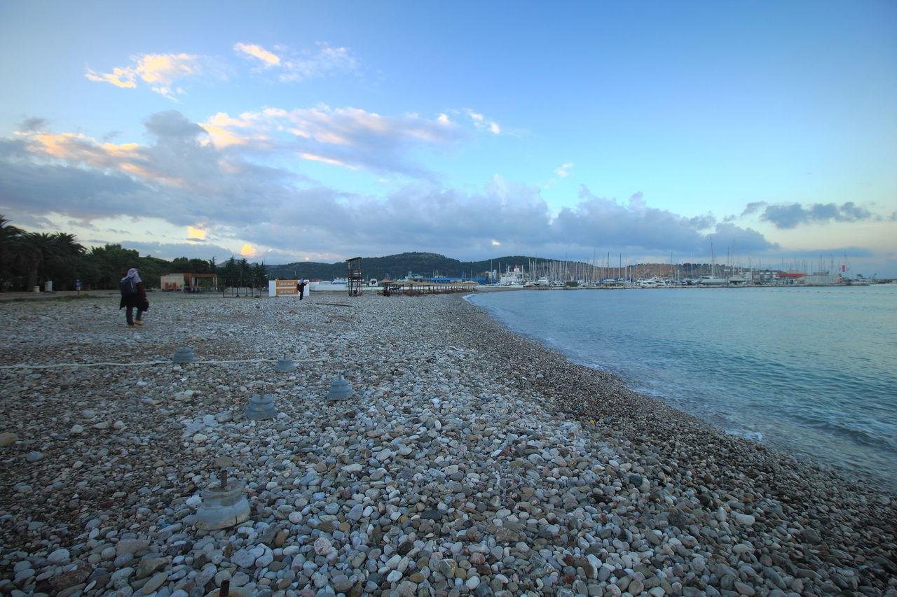 The pebble beach of Adriatic Coast in Bar, Montenegro. Pebble Beach Travel Adriatic Coast Bar Montenegro Beach Montenegro Nature Outdoors Scenics Tourism Travel Destinations