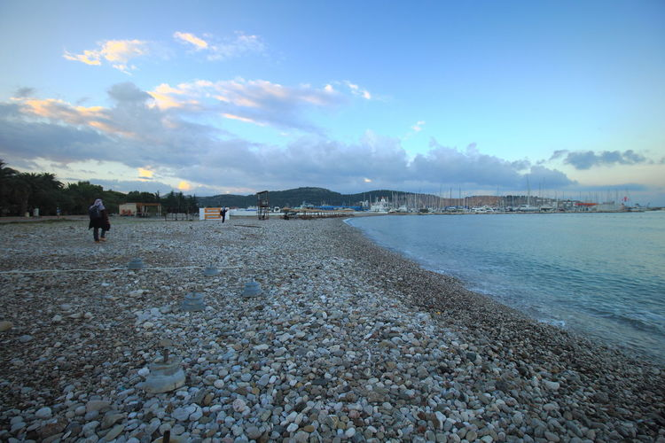 The pebble beach of Adriatic Coast in Bar, Montenegro. Pebble Beach Travel Adriatic Coast Bar Montenegro Beach Montenegro Nature Outdoors Scenics Tourism Travel Destinations