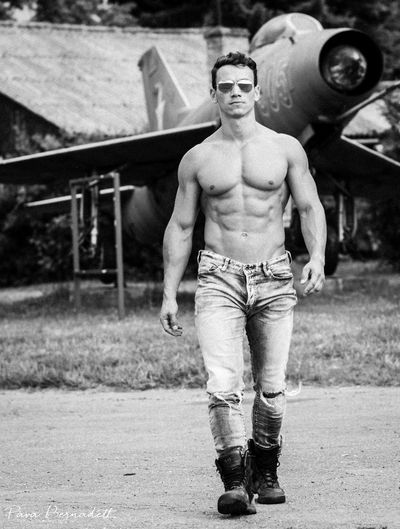 Aircraft Airplane Fitlife Fitman Fitmodel Fitness Portrait Sixpack Work