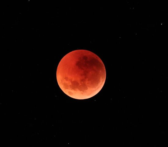 Blood moon 2018 Astronomy Night Sky Space Moon Beauty In Nature Circle Geometric Shape Eclipse Full Moon Moon Surface Tranquility Planetary Moon No People Red Scenics - Nature Natural Phenomenon Tranquil Scene Copy Space