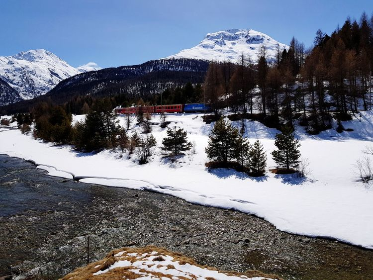 River Nature Reflection Reflections In The Water Glacierexpress Train Mountain Range Mountain Snow Cold Temperature Tree Winter Snowcapped Mountain Winter Sport Ski Holiday Sky Ski Slope Powder Snow Ski Resort  Deep Snow Ski Track Snowcapped