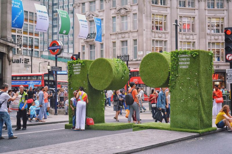 at Regent Street, London, UK on July 16th. Large Group Of People City Men City Street Women Street City Life Real People Day Outdoors Crowd Road Adult Tree People London Regentstreet Uk LONDON❤ London Streets