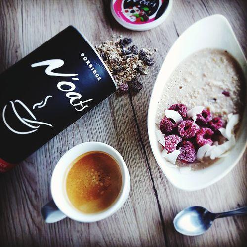 Porridge Porridge Time Breakfast Raspberry Coconut Coffee Fitness Healthy Eating