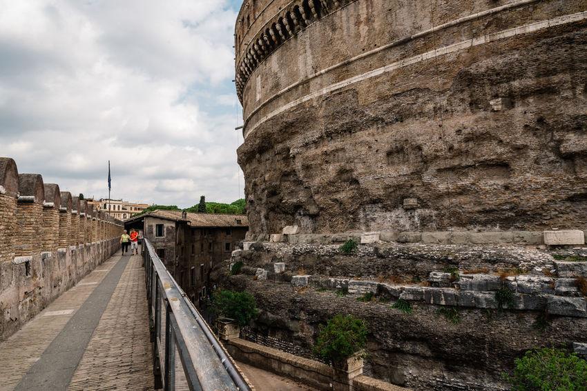 Interior view of Castel of Sant Angelo Castel Sant'Angelo City Italy Landmark Monument Rome Tourism Tourists Travel Travel Destination