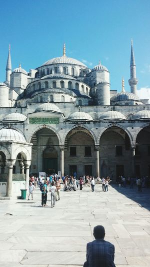 People at sultan ahmed mosque